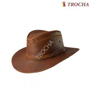 Sombrero en Cuero Aussie Miel